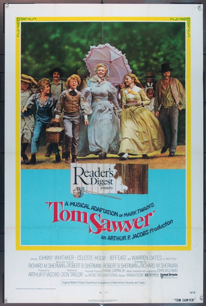 TOM SAWYER (1973) 1586 United Artists Original One-Sheet Poster   27x41  Folded  Very Fine Condition