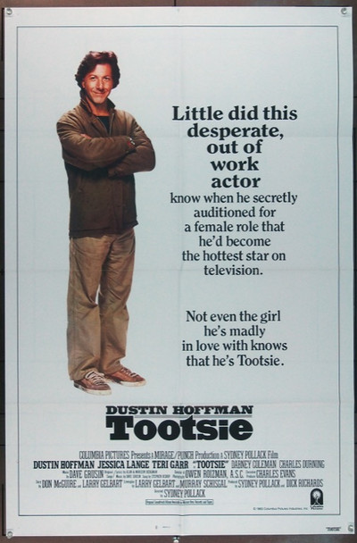 TOOTSIE (1983) 1582 Original Columbia Pictures Style B One Sheet Poster (27x41).  Folded.  Very Fine Condition.