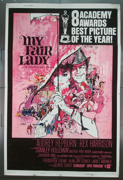 MY FAIR LADY (1964) 7605 Warner Brothers Original Poster   40x60  Very Good Condition