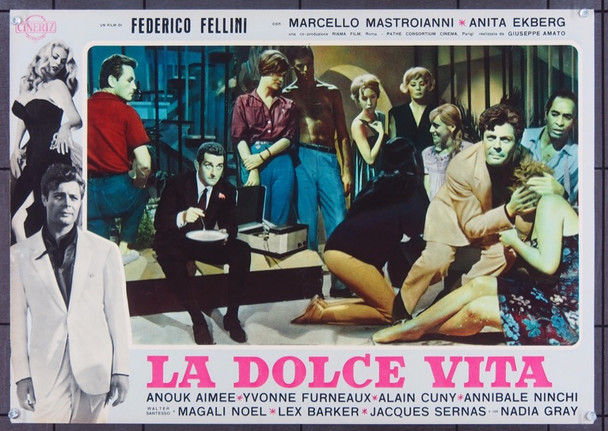 LA DOLCE VITA (1961) 7053 Original Italian First Release foto  19x26  Very Fine Condition