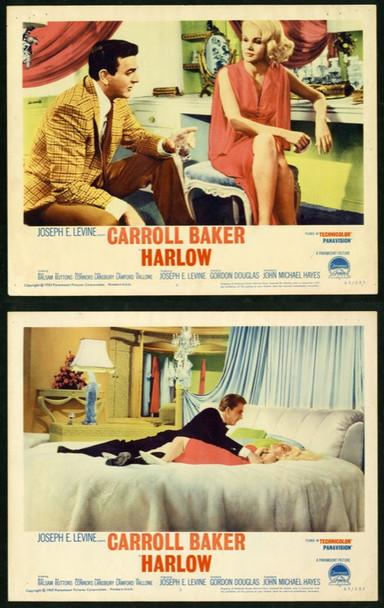 HARLOW (1965) 14195 Original Paramount Lobby Scene Cards (2)  11x14  Very Fine Condition