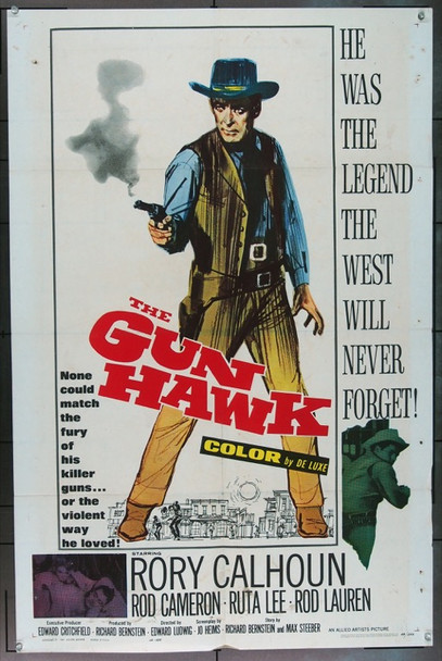 GUN HAWK, THE (1963) 16576 Allied Artists Original One Sheet Poster   27x41  Folded  Good Condition