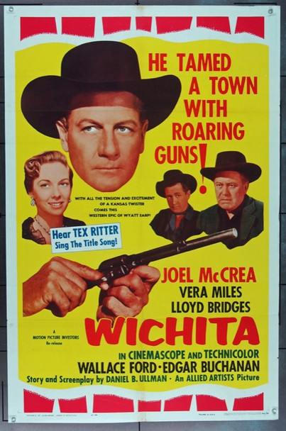 WICHITA (1955) 16565 Allied Artists Original One Sheet Poster   27x41  Folded  Very Good Condition