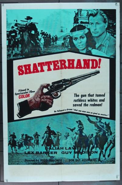 OLD SHATTERHAND (1964) 16562 Don Kay Associates U.S. One Sheet Poster   27x41  Folded  Very Good
