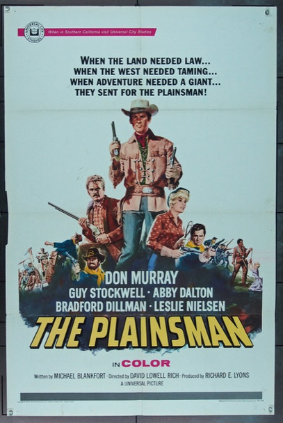 PLAINSMAN, THE (1966) 16558 Universal Pictures Original One Sheet Poster   27x41  Folded  Fine.