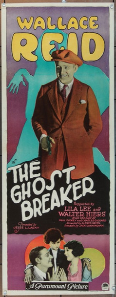 GHOST BREAKER, THE (1922) 24924 Original Paramount Pictures Insert Poster (14x36).    Paper-Backed.  Restored To Very Fine Condition.