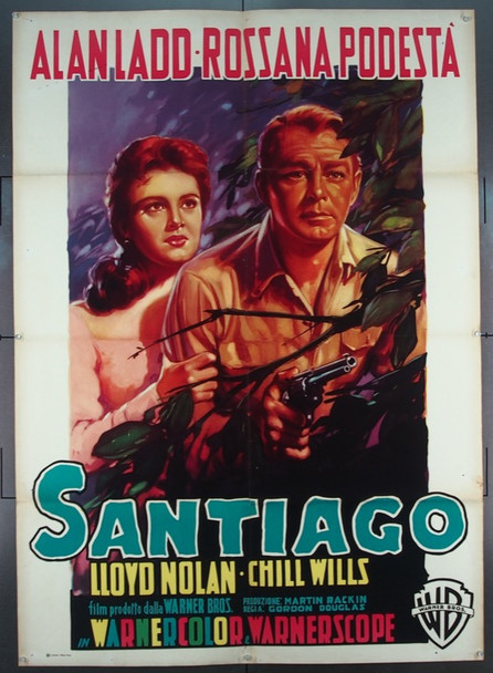 SANTIAGO (1956) 25416 Original Italian 2 Fogli Poster (39x55).  Luigi Martinati Artwork.  Folded.  Very Fine.
