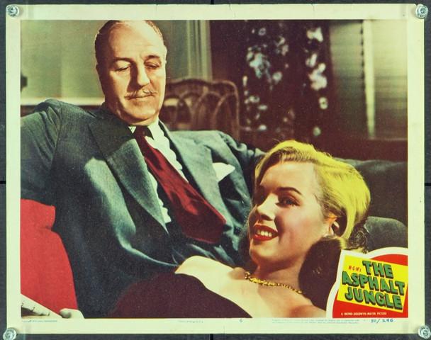 ASPHALT JUNGLE, THE (1950) 9207 Original MGM Scene Lobby Card (11x14).  Rare Marilyn Monroe Card.  Fine Plus Condition.