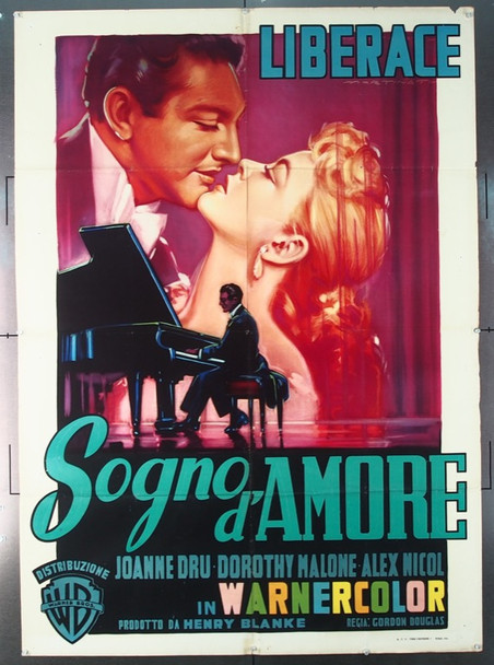 SINCERELY YOURS (1955) 25417 Original Italian 2 Fogli Poster (39x55).  Luigi Martinati Artwork.  Folded.  Fine Plus Condition.