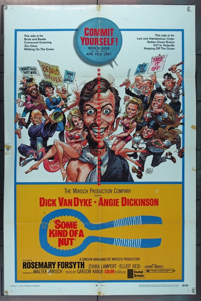 SOME KIND OF A NUT (1969) 10937 Original United Artists One Sheet Poster (27x41).  Folded.  Very Good Plus.