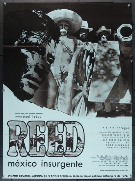 REED, MEXICO INSURGENTE (1973) 11874 Original French Poster   26x36  Folded.  Very Fine