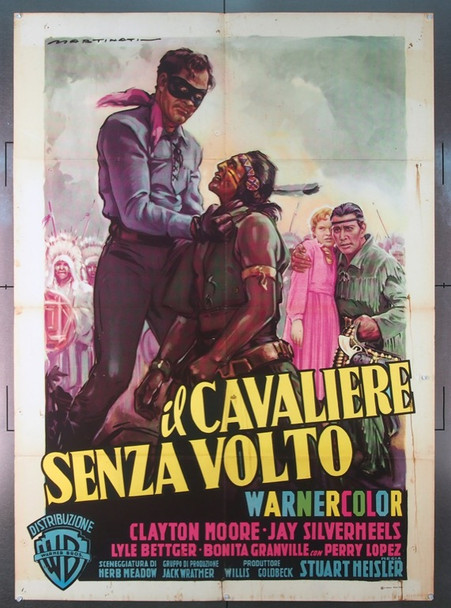 LONE RANGER, THE (1956) 25516 Original Italian 2 Fogli Poster (55x79).  Folded.  Very Fine Condition.