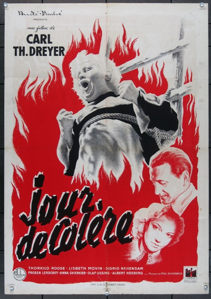 DAY OF WRATH (1943) 11856 Original French Moyenne Poster (23x33).  Folded.  Fine Condition.