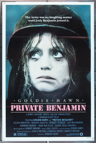 PRIVATE BENJAMIN (1980) 1470 Original Warner Brothers One Sheet Poster (27x41).  Folded.  Fine Plus Condition.
