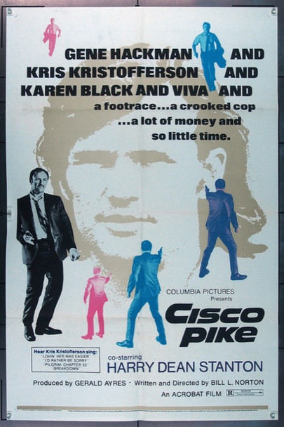 CISCO PIKE (1971) 10940 Original Columbia Pictures One Sheet Poster (27x41).  Folded.  Very Fine Plus Condition.