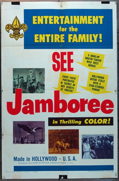 JAMBOREE (1954) 5882 Exploitation Productions One Sheet Poster (27x41).  Folded.   Good Condition.