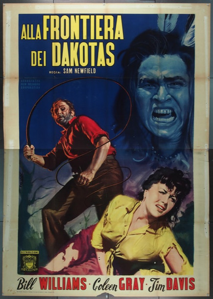 WILD DAKOTAS, THE (1956) 25545 Italian 4-foglio First Release  79x55  Folded  Fine Plus Condition.  Art by Enzo Nistri