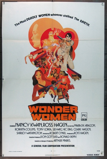 WONDER WOMEN (1973) 11780 General Film Corporation Original One Sheet Poster  27x41  Very Good