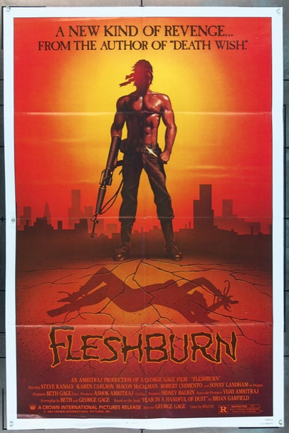 FLESHBURN (1984) 11783 Crown International One Sheet Poster   27x41  Folded  Fine Condition