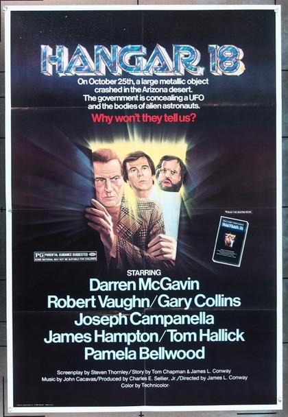 HANGAR 18 (1980) 11781 Sunn Classic Films One Sheet Poster  27x40  Folded.  Very Fine