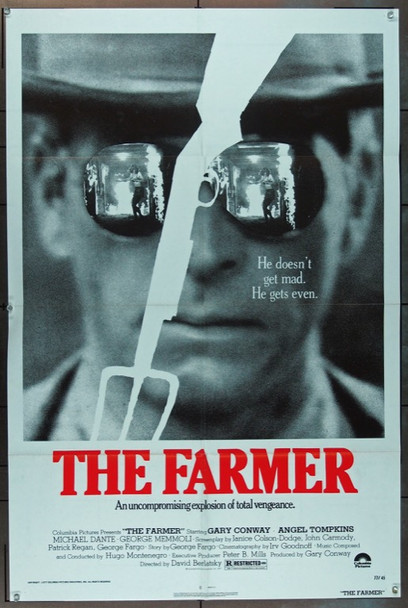 FARMER, THE (1977) 11782 Columbia Pictures One Sheet Poster (27x41).   Folded.   Very Fine Condition.