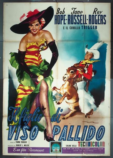 SON OF PALEFACE (1952) 25544 Original Italian 4 Fogli Poster (55x79).  Folded.  Fine Condition.