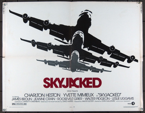 SKYJACKED (1972) 16769 Original MGM Half Sheet Poster  Folded  22x28