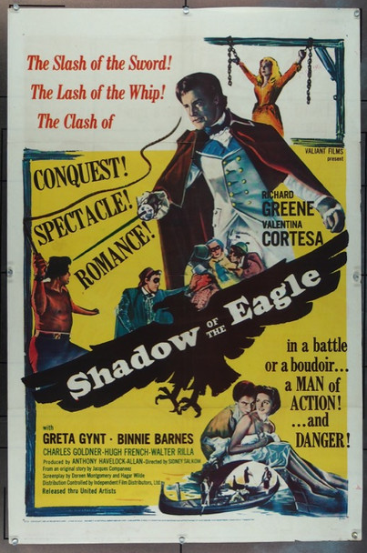 SHADOW OF THE EAGLE (1955) 11213 United Artists Original One Sheet Poster   27x41  Folded  Good Plus Condition