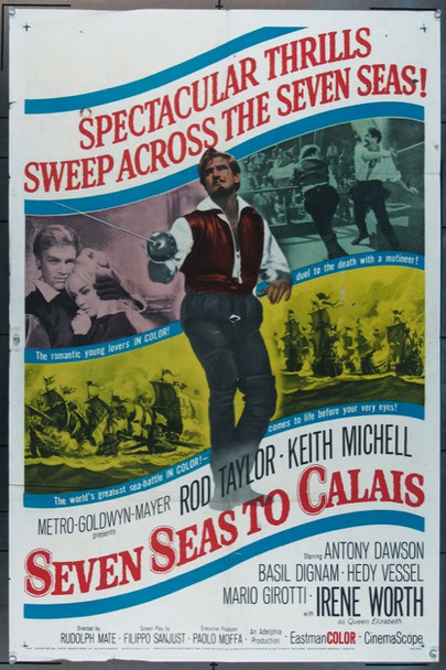 SEVEN SEAS TO CALAIS (1962) 11209 MGM Original One Sheet Poster  27x41  Folded  Fine Condition.