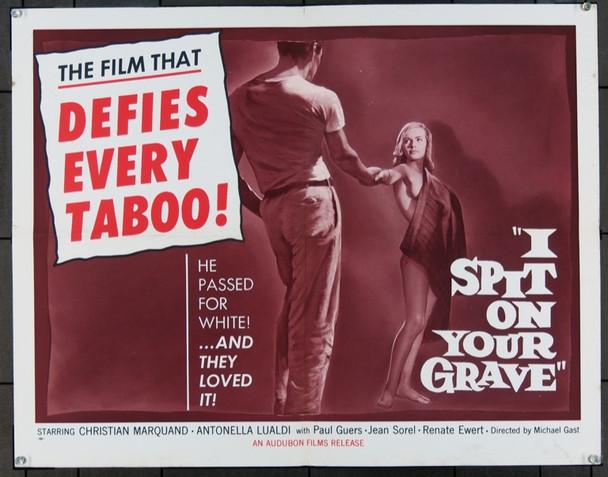 I SPIT ON YOUR GRAVE (1962) 10612 C.T.I. Original Half Sheet Poster   22x28  Folded   Fine Plus Condition