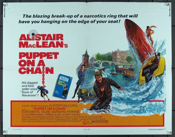 PUPPET ON A CHAIN (1972) 16765 Cinerama Releasing Company Original U.S. Half-sheet poster   22x28  Very Good Plus Condition