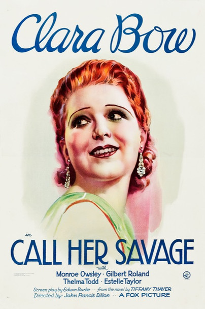 CALL HER SAVAGE (1932) 25622 Fox Film Corporation Original One Sheet Poster (27x41).   Linen-Backed.   Very Fine Condition.