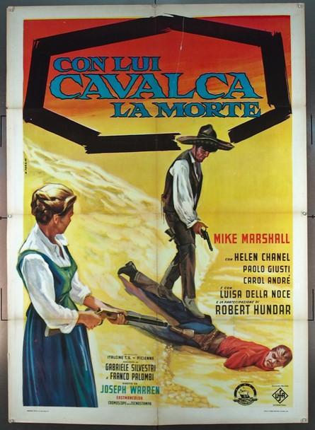 CON LUI CAVALCA LA MORTE (1970) 25626 Original Italcine Italian Two Foglio Poster   39x55  Folded  Good Condition