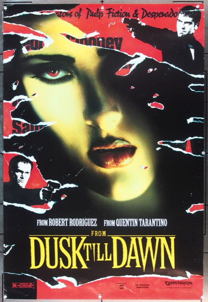 FROM DUSK TILL DAWN (1996) 8547 Original Dimension Films Advance One Sheet Poster (27x40).   Rolled.  Fine Plus Condition.