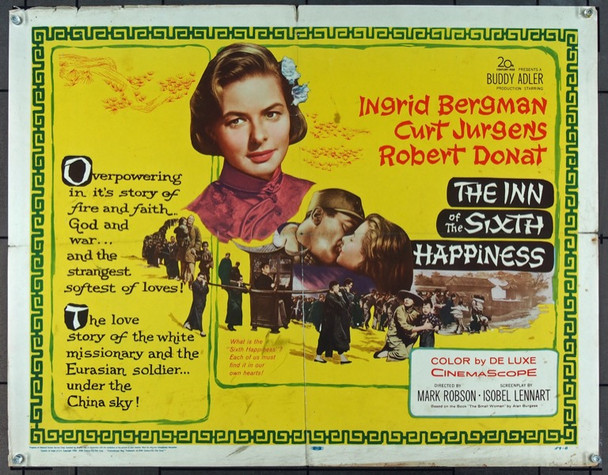 INN OF THE SIXTH HAPPINESS, THE (1959) 15475 20th Century Fox Original Half Sheet Poster  22x28  Folded  Very Good Condition