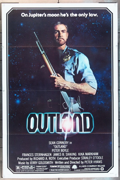 OUTLAND (1981) 2114 Original Warner Brothers One Sheet Poster (27x41).  Folded.  Fine Plus To Very Fine.
