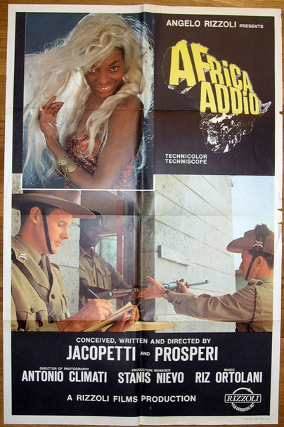 AFRICA ADDIO (1966) 12030 Original Rizzoli Films One Sheet Poster (27x41).  Folded.  Very Fine Condition.
