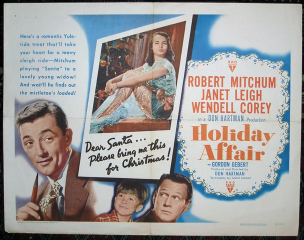 HOLIDAY AFFAIR (1949) 5673 RKO Original Half Sheet Poster Style B (22x28) A HOLIDAY AFFAIR (1949)  Very Good Plus Condition