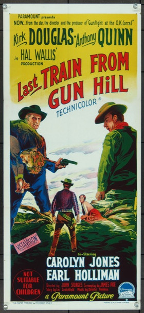LAST TRAIN FROM GUN HILL (1959) 12701 Original Paramount Pictures Australian Daybill  (14x30)  Folded  Very Fine Plus Condition