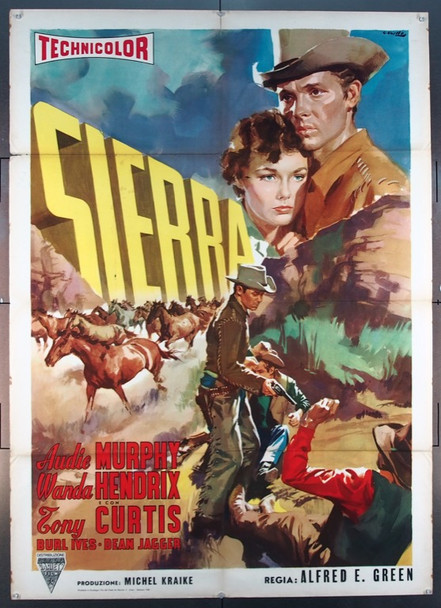 SIERRA (1950) 25562 Universal Pictures Original Italian Due Foglio poster  (39x55)  Folded  Fine Plus Condition