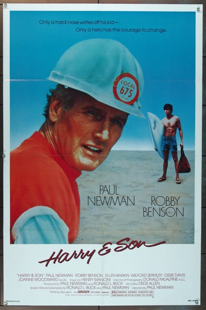 HARRY & SON (1984) 3285 Orion PIctures Original One Sheet Poster (27x41) Folded Very Fine Plus Condition