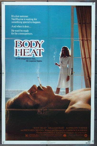 BODY HEAT (1981) 3543 Original Warner Brothers One Sheet Poster (27x41).  Folded.  Near Mint.