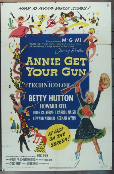 ANNIE GET YOUR GUN (1950) 24662 Original MGM One Sheet Poster (27x41).  Folded.  Fine Plus.