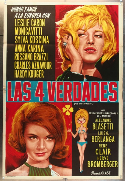 QUARTRE VERITES, LES (1962) 24351 Franco London Films Argentinean Poster (29x43).  Folded.  Fine Condition