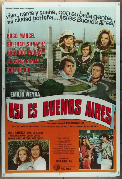 ASI ES BUENOS AIRES (1971) 11839 Pel-Mex Original Argentinean Poster (29x43).  Folded.  Very Good Condition.