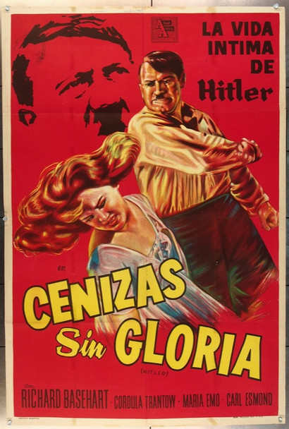 HITLER (1962) 19086 Original Allied Artists Argentinean Poster (39x43).  Folded.  Very Fine Condition