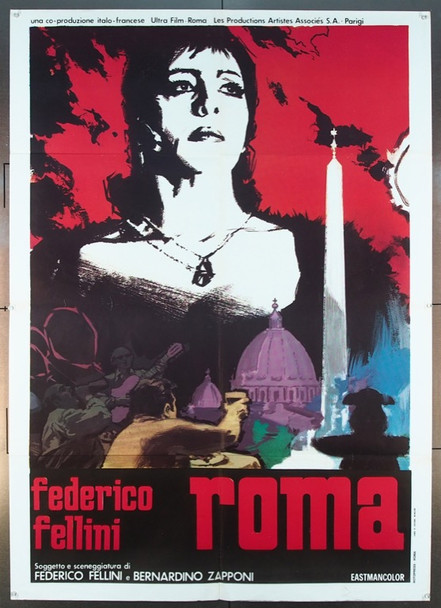 ROMA (1972) 25769 Original United Artists Italian 2-sheet poster.  (39x55) Folded.  Fine Plus Condition