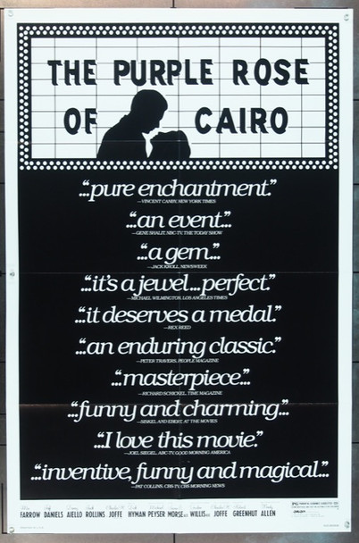 PURPLE ROSE OF CAIRO, THE (1985) 3286 Orion Pictures Original One Sheet Poster (27x41)  Very Fine Plus  Folded