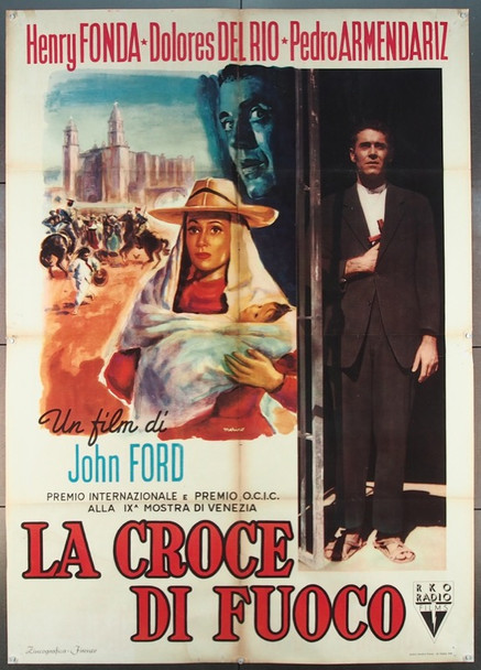 FUGITIVE,THE (1947) 25559 RKO Original Italian 39x55  Folded.  First Release.  Fine Plus to Very Fine Condition