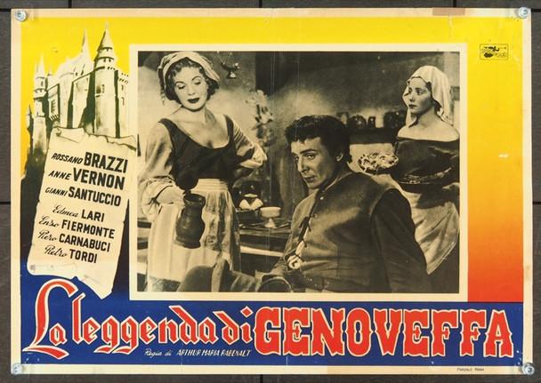 LEGGENDA DI GENOVEFFA, LA (1952)  Rossano Brazzi  25767 Original Regionale Italian Photobusta (13x19).  Very Good Plus condition